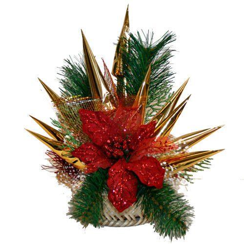 Рождественский букет своими руками фото