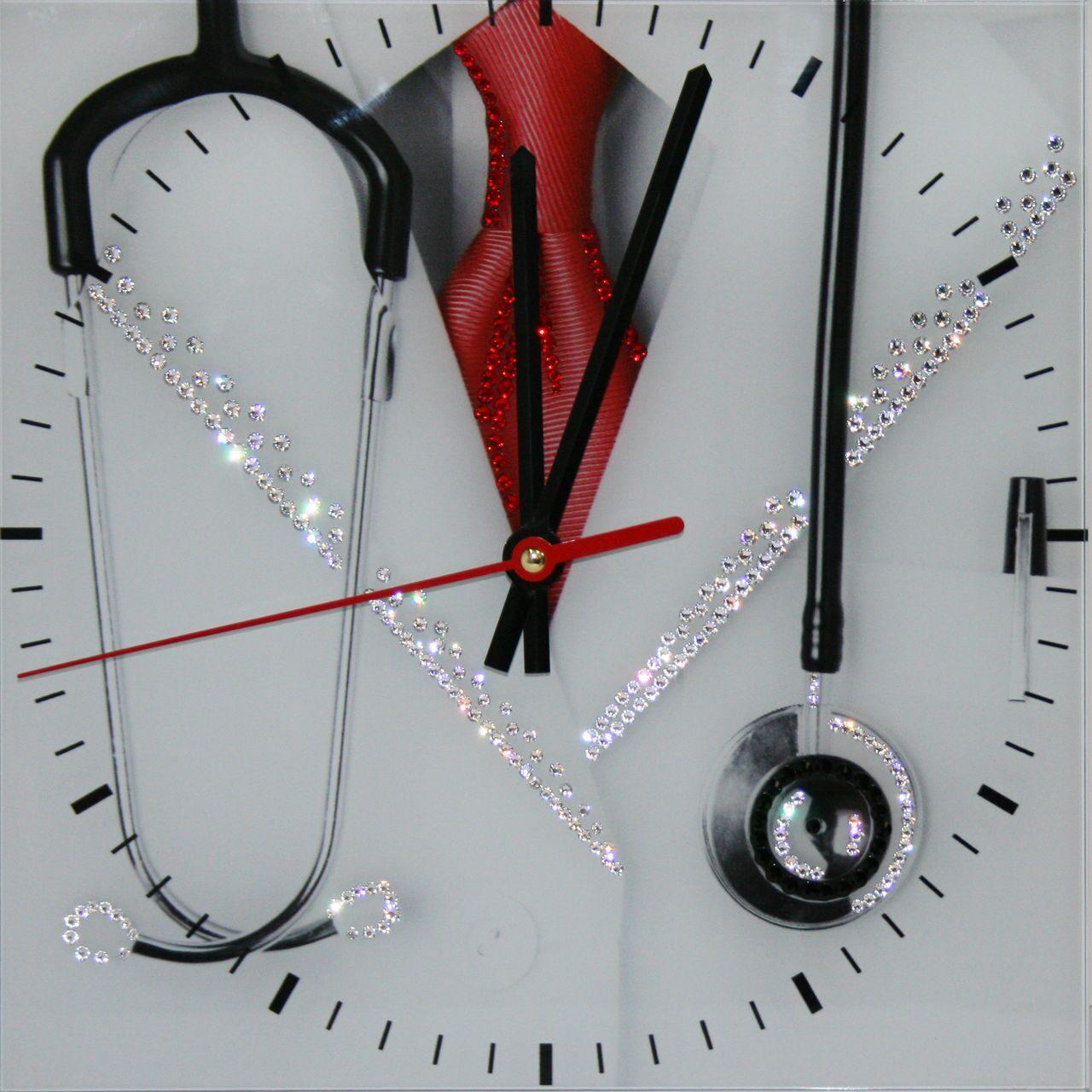 "Часы с кристаллами Swarovski ""Доктор"" от 7 480 руб"