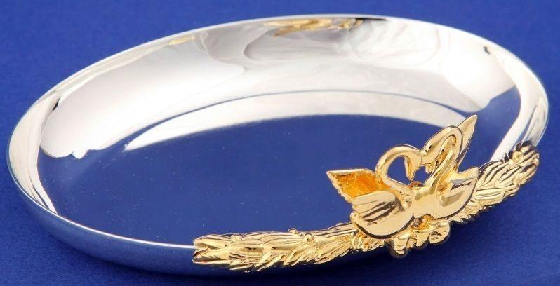 """Crystal Union Блюдце для колец """"Лебеди"""" SA-3021/SGSW"""