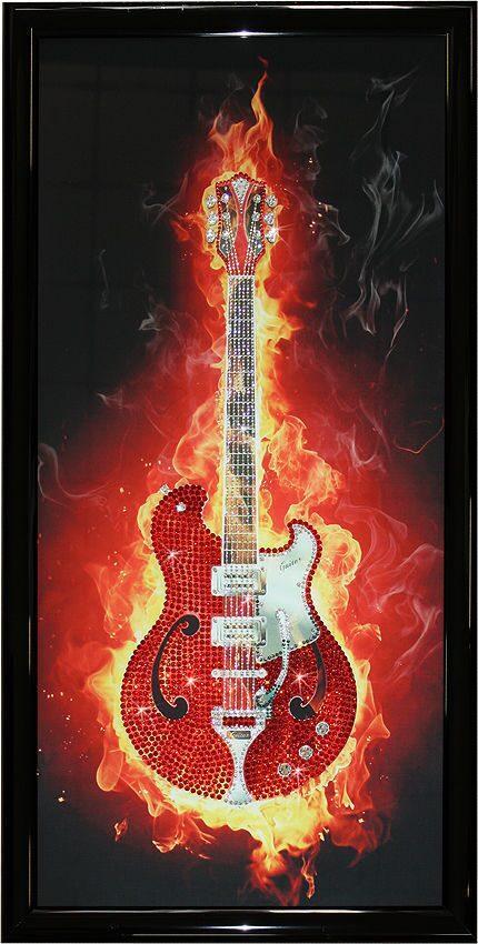 """Картина с кристаллами Swarovski """"Огненная гитара"""" от 33 250 руб"""